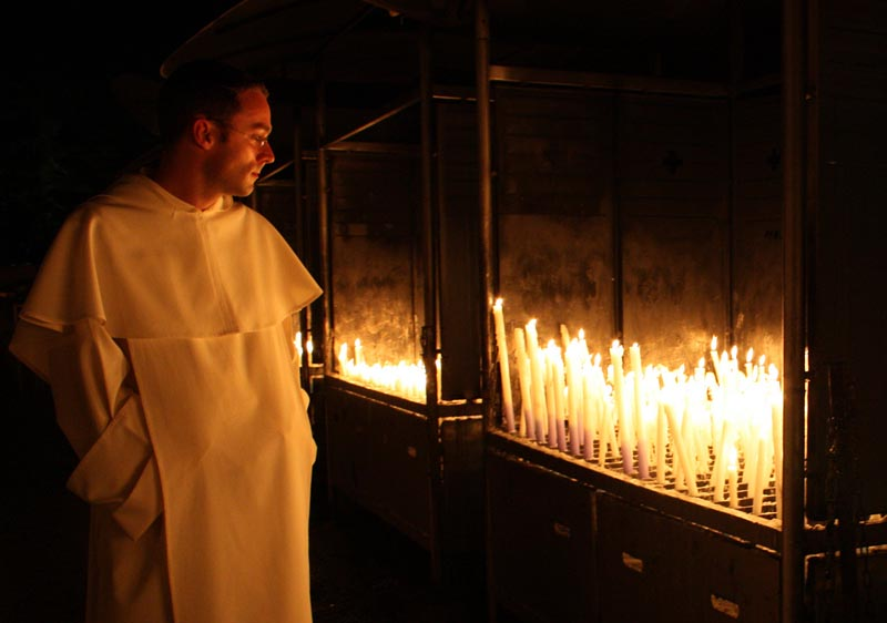 Prayer candles Lourdes