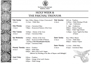 Holy Week & Triduum at Blackfriars