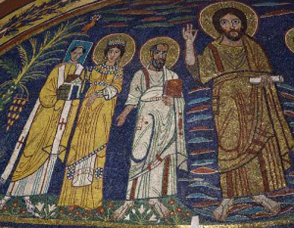 Christ with St Cecilia & St Paul