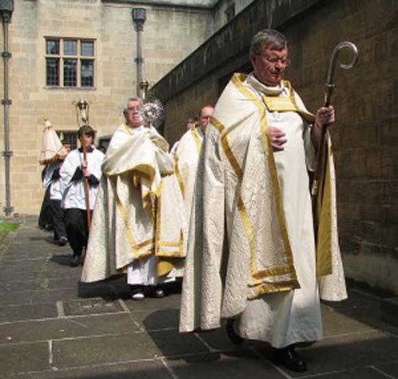 Bishop Kenney in procession