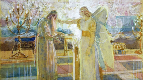Advent Art: The Angel Gabriel Appearing to Zechariah, by Alexander Ivanov