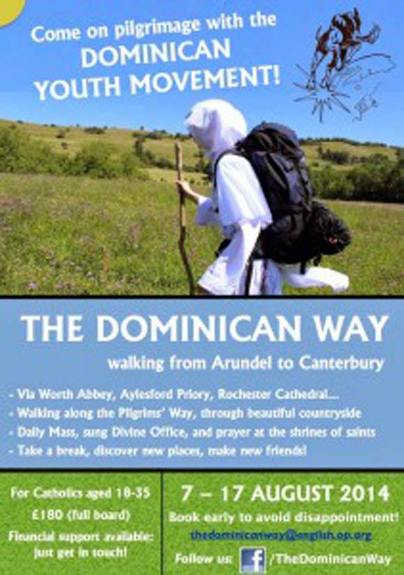 Come on pilgrimage with the Dominican Youth Movement!