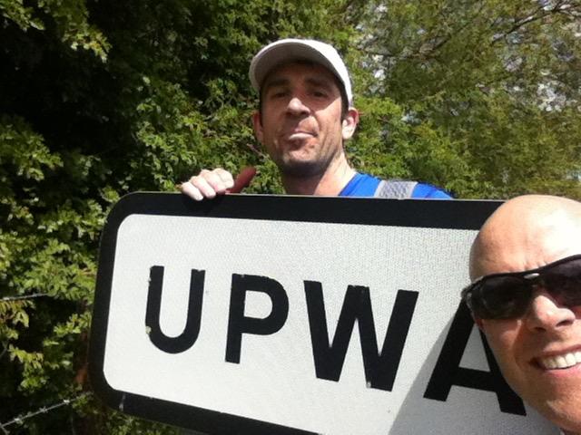 Fr Bruno OP and Fr Craig OSA on a training run
