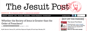Jesuits vs Dominicans? An answer from St Thomas…
