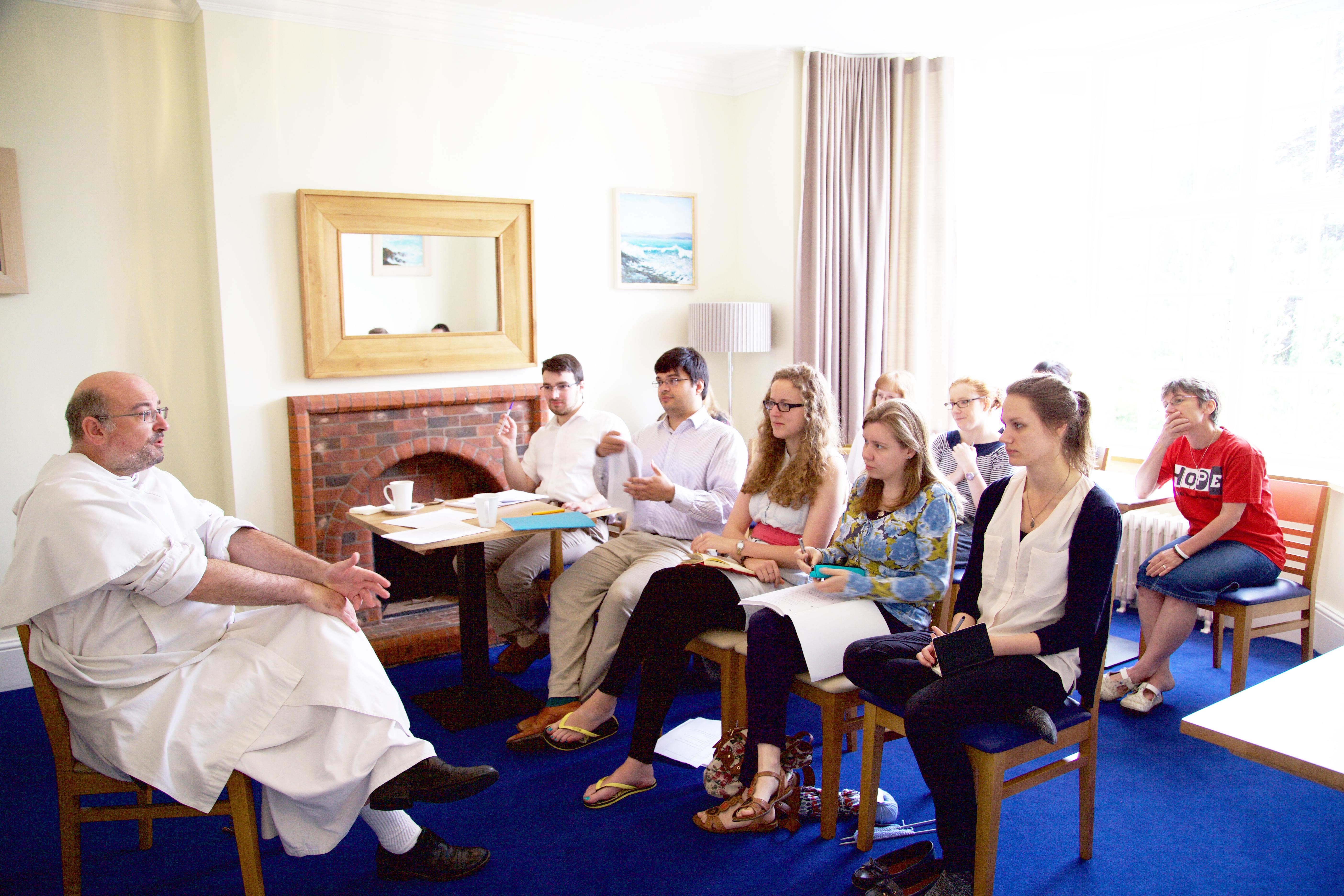 Simon Gaine teaching at the Summer School