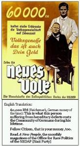Nazi Euthanasia Propaganda Poster