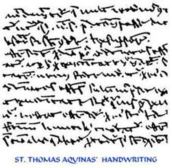 The Indecipherable Writing of Thomas Aquinas