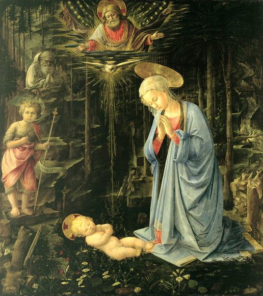Advent Art: Adoration in the Forest, by Filippo Lippi