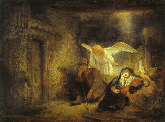 Advent Art: The Dream of Joseph, by Rembrandt